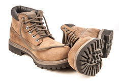 A pair of hiking boots. Stock Images