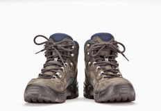 A pair of hiking boots. On white background Royalty Free Stock Image