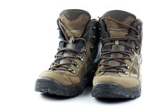 Pair of hiking shoes Royalty Free Stock Images