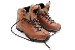 Pair of hiking shoes Stock Images