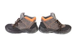 Pair of hiking shoes. Royalty Free Stock Image