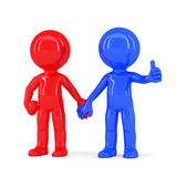 A pair of holding hands people. A pair of holding hands undefined people. Isolated. Contains clipping path Stock Image