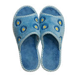 Pair of home slippers Stock Photos