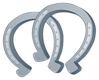 Pair of horse shoes stock illustration