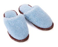 Pair of house slippers Stock Images