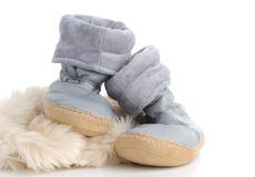 Pair of house slippers. Royalty Free Stock Photos