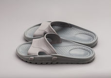 Pair of house slippers Stock Photo
