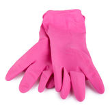 Pair household working rubber gloves Royalty Free Stock Images