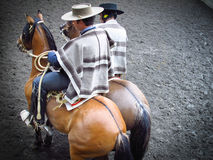 Pair of Huasos, Chilean Rodeo Royalty Free Stock Photos