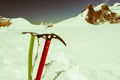 Pair of ice axes. Stock Image