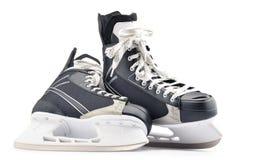 Pair of ice hockey skates isolated on white Stock Image