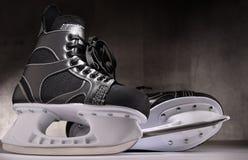 Pair of ice hockey skates.  royalty free stock image