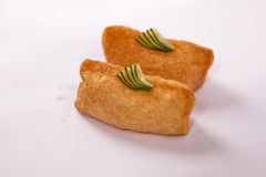 Pair of Inari (Deep-fried Tofu) Sushi Stock Images