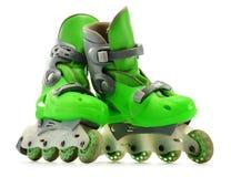 A pair of inline skates  on white Stock Photo