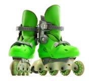 A pair of inline skates on white Stock Photos