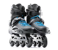 Pair of inline skates on white background Stock Photography
