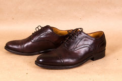 Pair of italian shoes Stock Photography