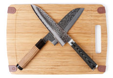 Pair of japanese knives Royalty Free Stock Images