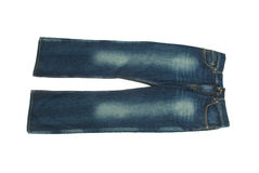 Pair of jeans isolated on the white Stock Images