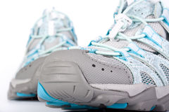 A pair of jogging shoes. On a white background Stock Photo