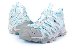 A pair of jogging shoes. On a white background Royalty Free Stock Photos