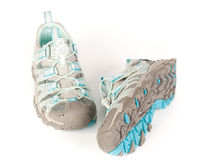 A pair of jogging shoes. On a white background Royalty Free Stock Photography