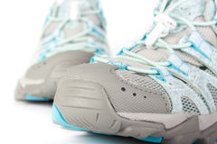 A pair of jogging shoes. On a white background Stock Image