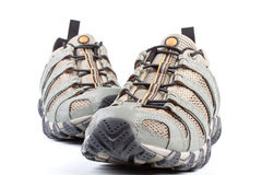 A pair of jogging shoes. On a white background Stock Photography