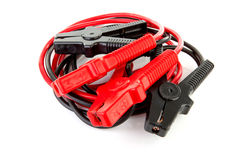 Pair of jumper cables Royalty Free Stock Photos