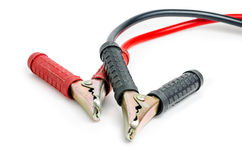 A pair of jumper cables :Clipping path included Royalty Free Stock Image