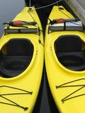 Pair of Kayaks Stock Images