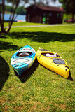 A pair of kayaks Stock Image