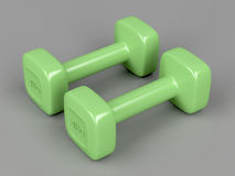 Pair of 3 kg dumbbells Stock Photo