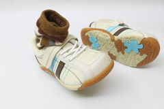 A pair of kid shoes Stock Photography