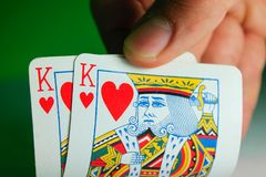 A pair of kings stock image