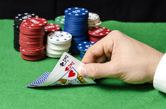 Pair of kings in poker Stock Image