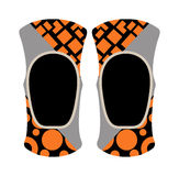 Pair of knee sport protectors activity equipment flat vector. Protector motorcycle sport protective gear and knee pad riding sport protection. Elbow knee pads Stock Images