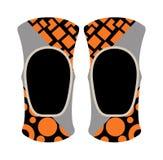 Pair of knee sport protectors activity equipment flat vector. Stock Images