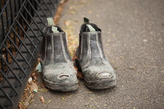 Pair of Labourers Work Boots Stock Image