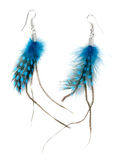 A pair of ladies earrings from feather Royalty Free Stock Image