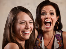 Pair of Ladies Laughing Royalty Free Stock Photos