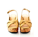 Pair of lady shoes Stock Photos