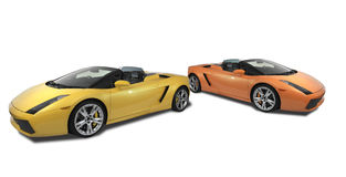 A pair of Lamborghini Gallardos royalty free stock images