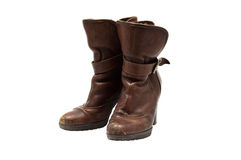 Pair of leather boots Royalty Free Stock Images