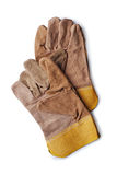 Pair of leather gardening gloves Stock Image