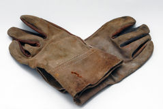 Pair of leather gloves royalty free stock photos