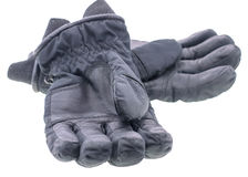 A pair of leather gloves isolated Stock Image
