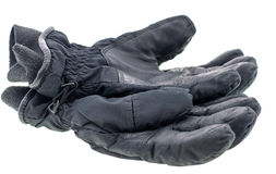 A pair of leather gloves isolated Stock Photography