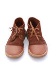 Pair of Leather Hiking Boots Stock Image
