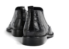 Pair of leather men's shoes Royalty Free Stock Photography